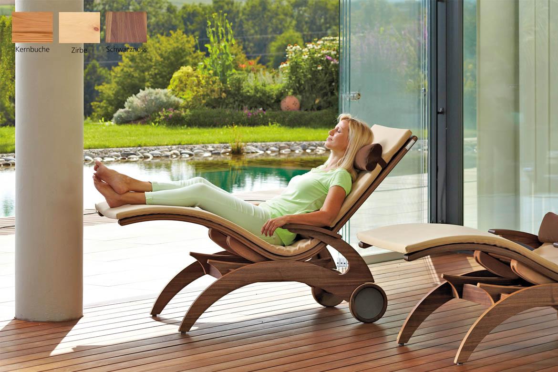 Wellnessliege holz  Wellnessliege Siesta Natur - First-Class-Holz