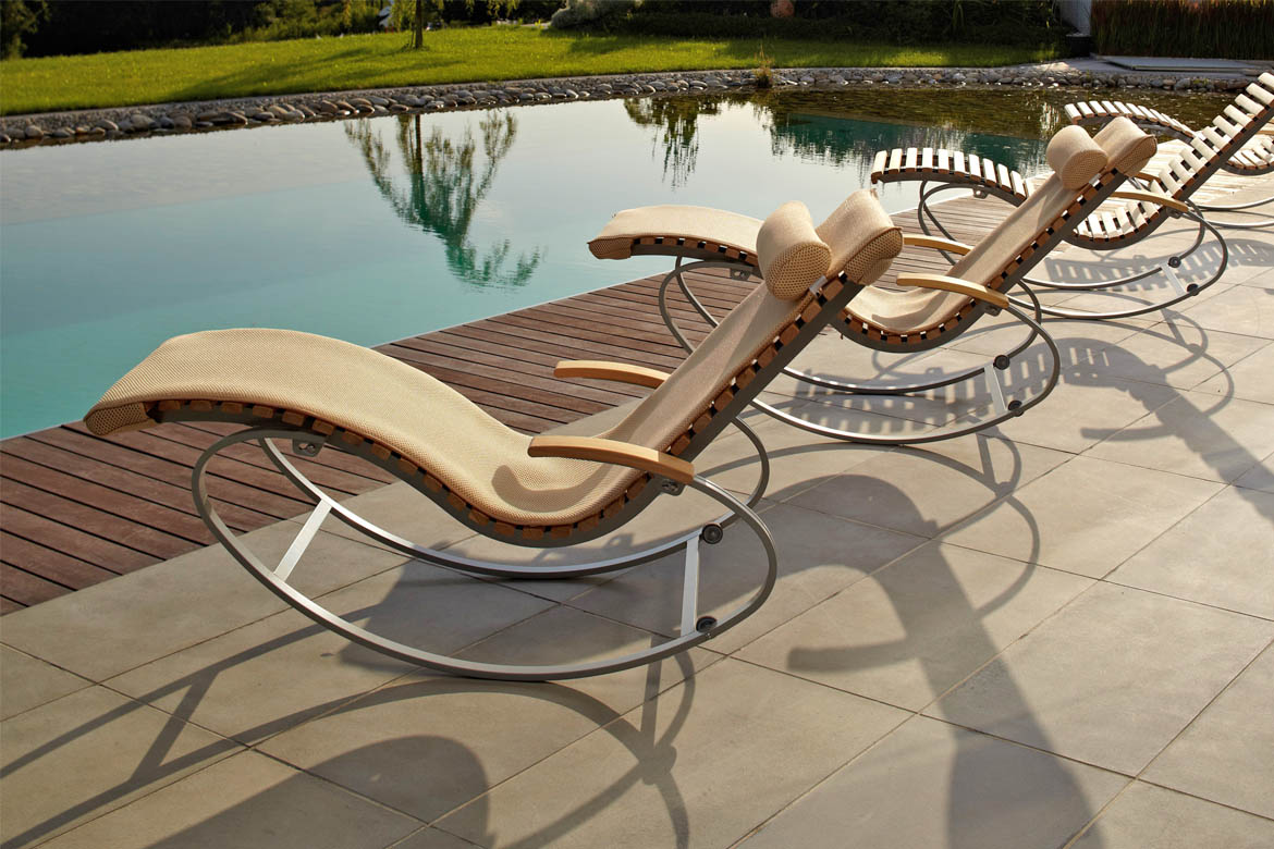wellnessliege siesta pur outdoor first class holz. Black Bedroom Furniture Sets. Home Design Ideas