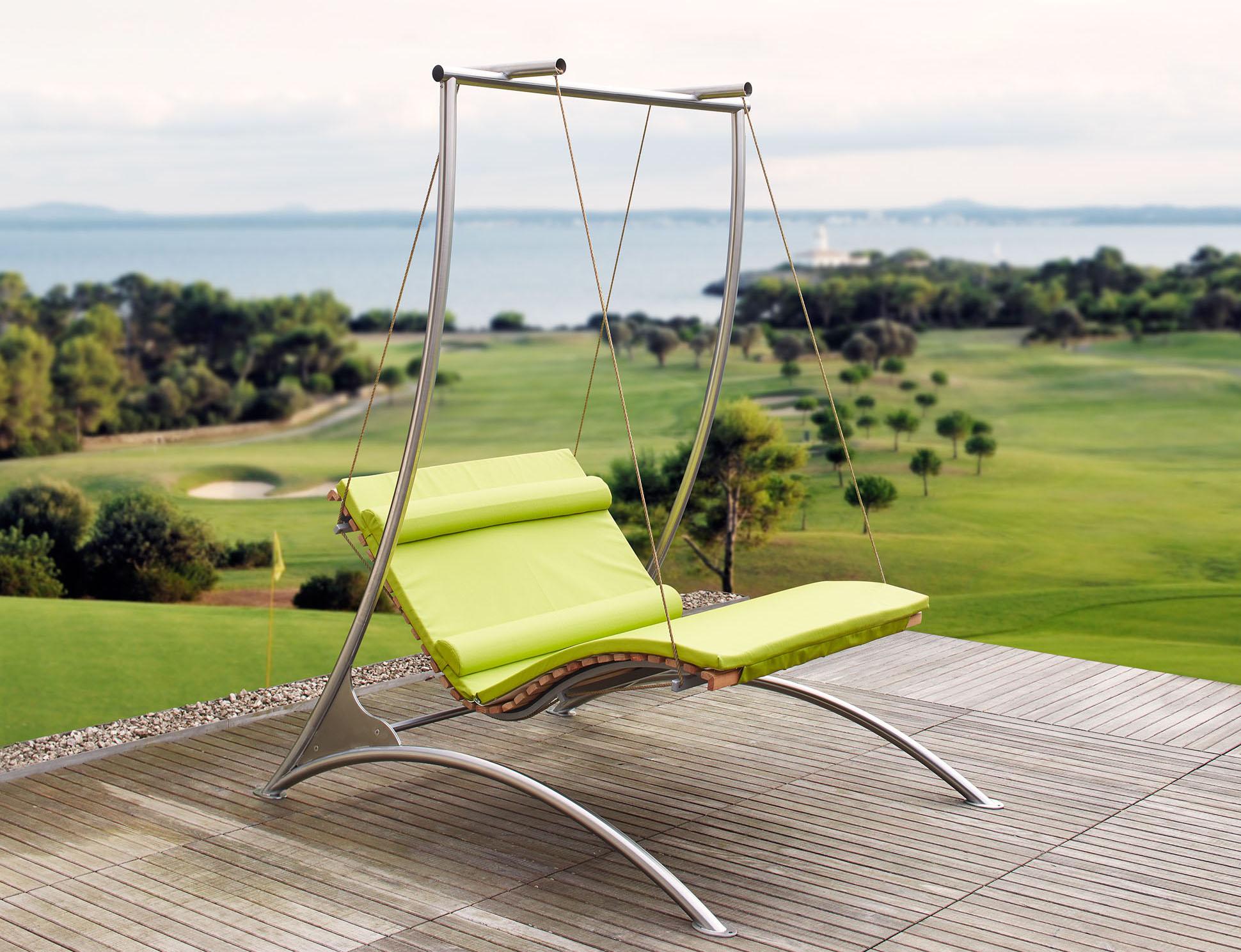 schwebeliege siesta sky wellnessliege sonnenliege relaxliege entspannungsliege. Black Bedroom Furniture Sets. Home Design Ideas